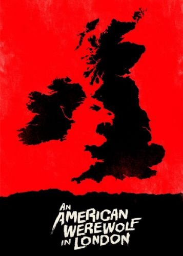 1980's Movie - AN AMERICAN WEREWOLF IN LONDON - RED1 / canvas print - self adhesive poster - photo